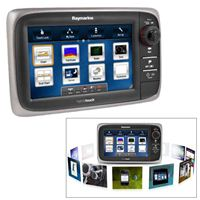 RAYMARINE e7D Network Multifunction Display with Sonar & U.S. Cartography, No Transducer